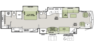 2016 Tiffin Allegro Bus 45OP Floor Plan