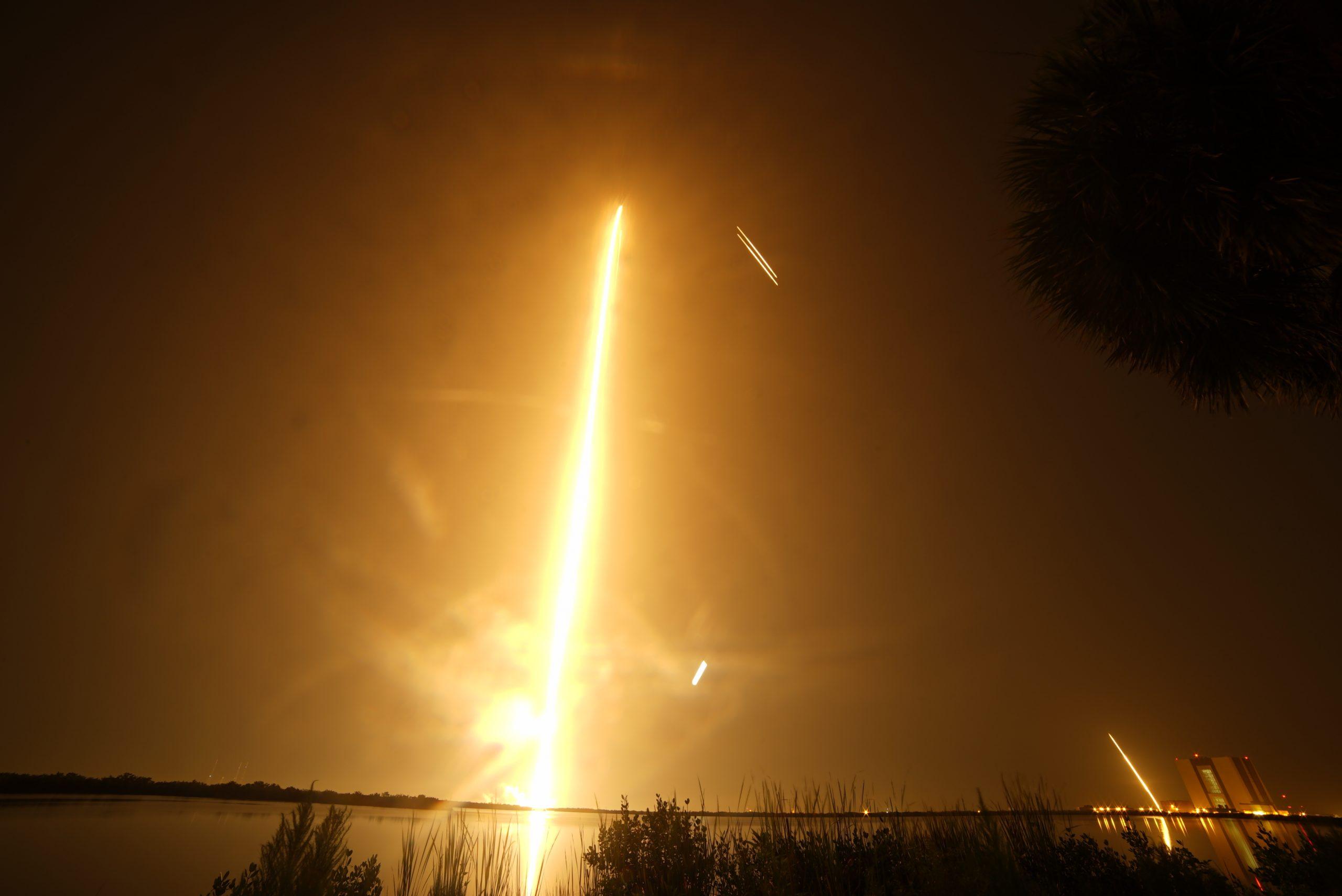 Falcon Heavy Launch - Long Exposure